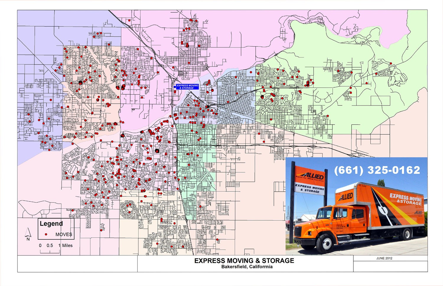 Bakersfield Moving Map